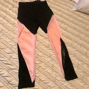Pink/Black Leggings